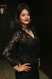 Actress Monica in spicy transparent Black Top at O Pilla Nee Valla Movie Audio Launch Feb 2017 107.JPG