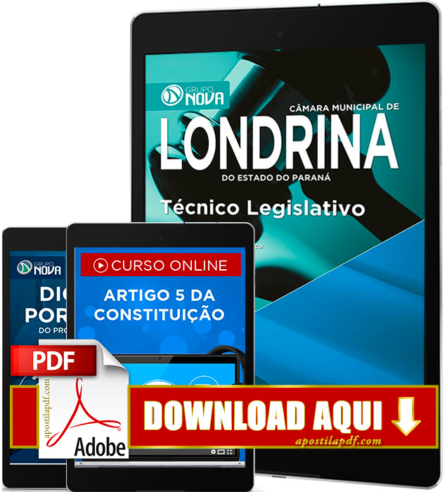 Apostila Câmara de Londrina 2016 PDF Download Técnico Legislativo