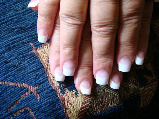 classic pink and white french