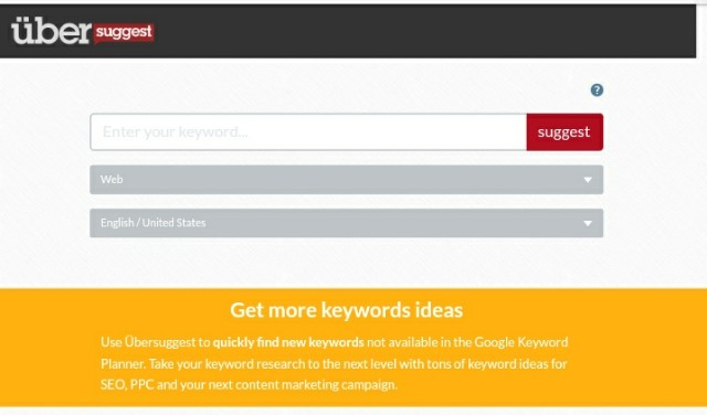 Uber suggest free long tail Keyword generator