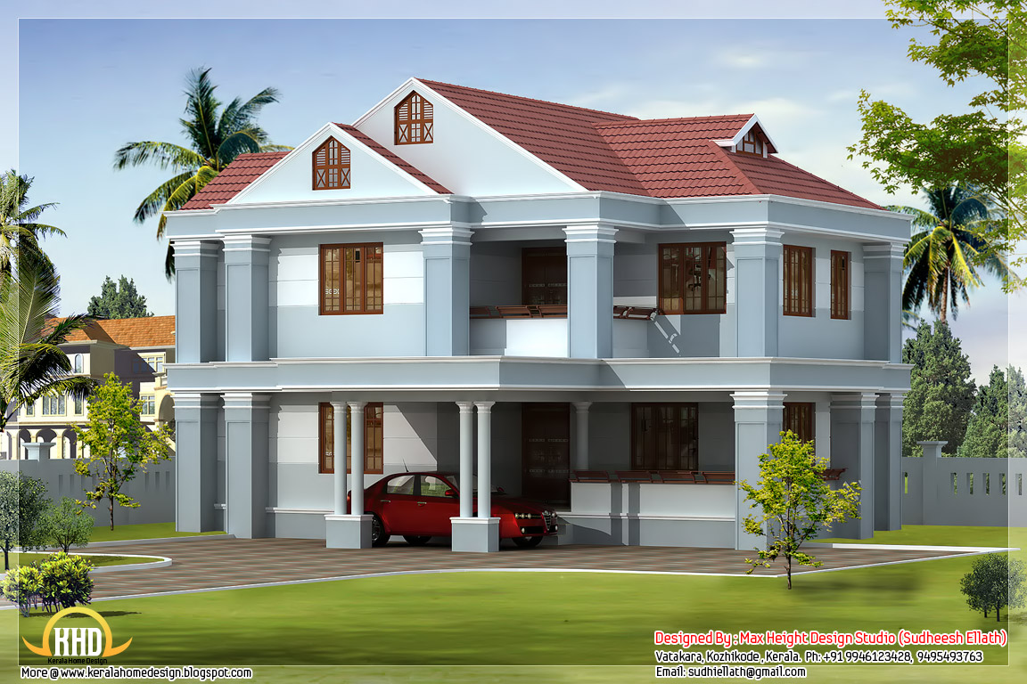 June 2012 kerala home design and floor plans for Beautiful home blueprints