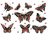 diseños de tattoos de mariposas