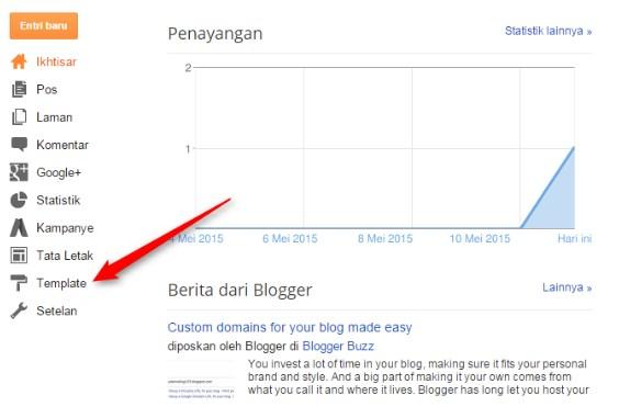 Menu Template di Blogger