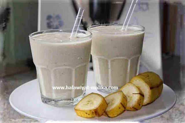 ميلك شيك milkshake الموز روعة