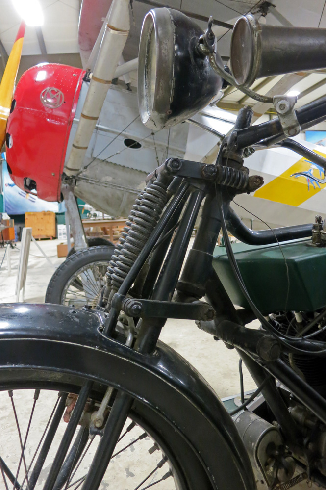 1916 Royal Enfield front suspension.