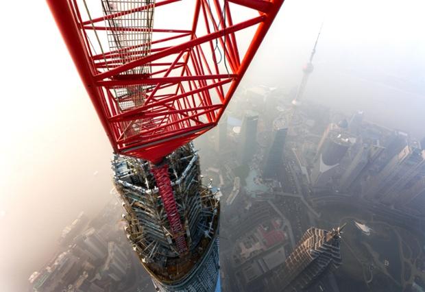Shanghai- sous-la-pollution