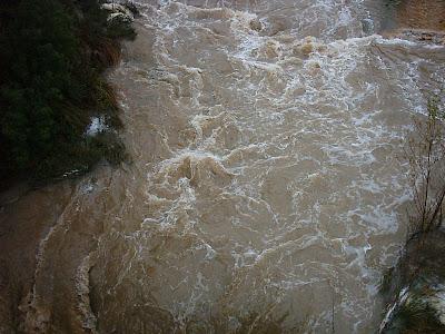 Matarraña ,riada, río crecido, agua, puente santa Ana