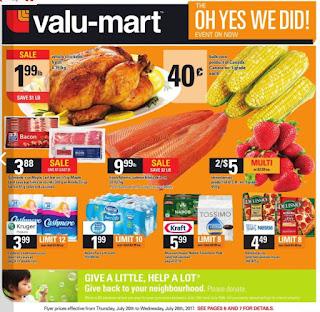 Valu-Mart Flyer So Easy to Save valid July 20 - 26, 2017