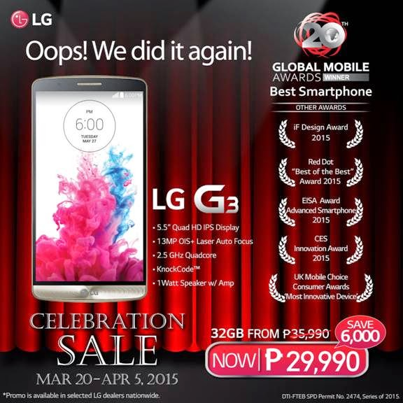 LG G3 Smartphone at P6,000 off until April 5 | Dear Kitty Kittie