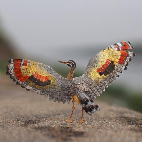 Sunbittern Miniature Paper Bird