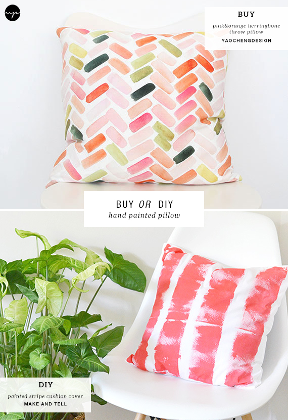 BUY OR DIY: Hand painted pillows