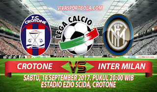 Prediksi Crotone vs Inter Milan 16 September 2017