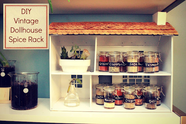 I Couldn T Resist This Vintage Colonial Dollhouse From The: EAT+SLEEP+MAKE: CRAFT: DIY Vintage Dollhouse Spice Rack