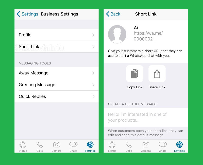 WhatsApp is rolling out the Short Link feature for it's Business users