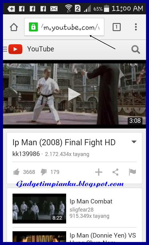 Cara download video youtube lewat hp android youtube.