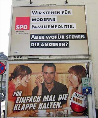 witzige Bilder von schlecht platzierter Wahlwerbung