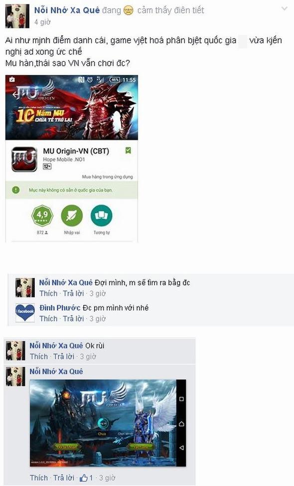 Game thủ khóc dở mếu dở vì không chơi được MU Origin