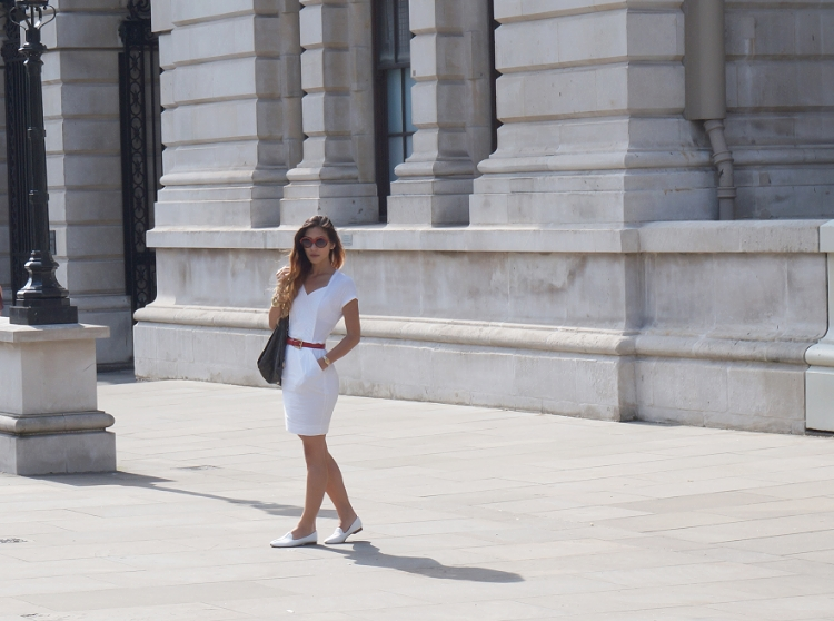 Euriental - white BCBG Maxazria dress, summer style, fashion blogger, street style in London