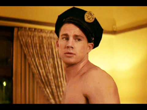 A male dancer wearing a police hat in Magic Mike movieloversreviews.filminspector.com