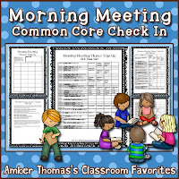 https://www.teacherspayteachers.com/Product/Morning-Meeting-Common-Core-Check-In-Tasks-525244