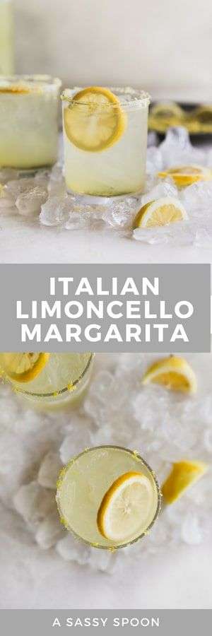 This sweet, sour, refreshing Limoncello Margarita is a Mexican classic with an Italian makeover! Made with no lemonade concentrate, just simple ingredients.