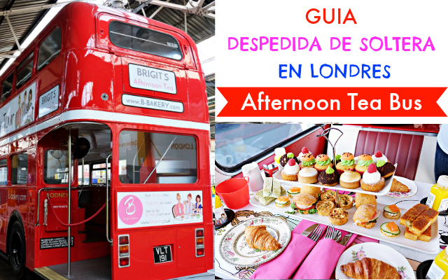 guia despedida de soltera en londres - afternoon tea bus