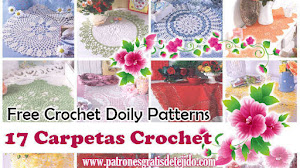 17 Patrones de Carpetas Crochet / Free Crochet Doily Patterns