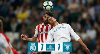 Real Madrid Ditahan Imbang Athletic Bilbao 1-1 HIGHLIGHTS