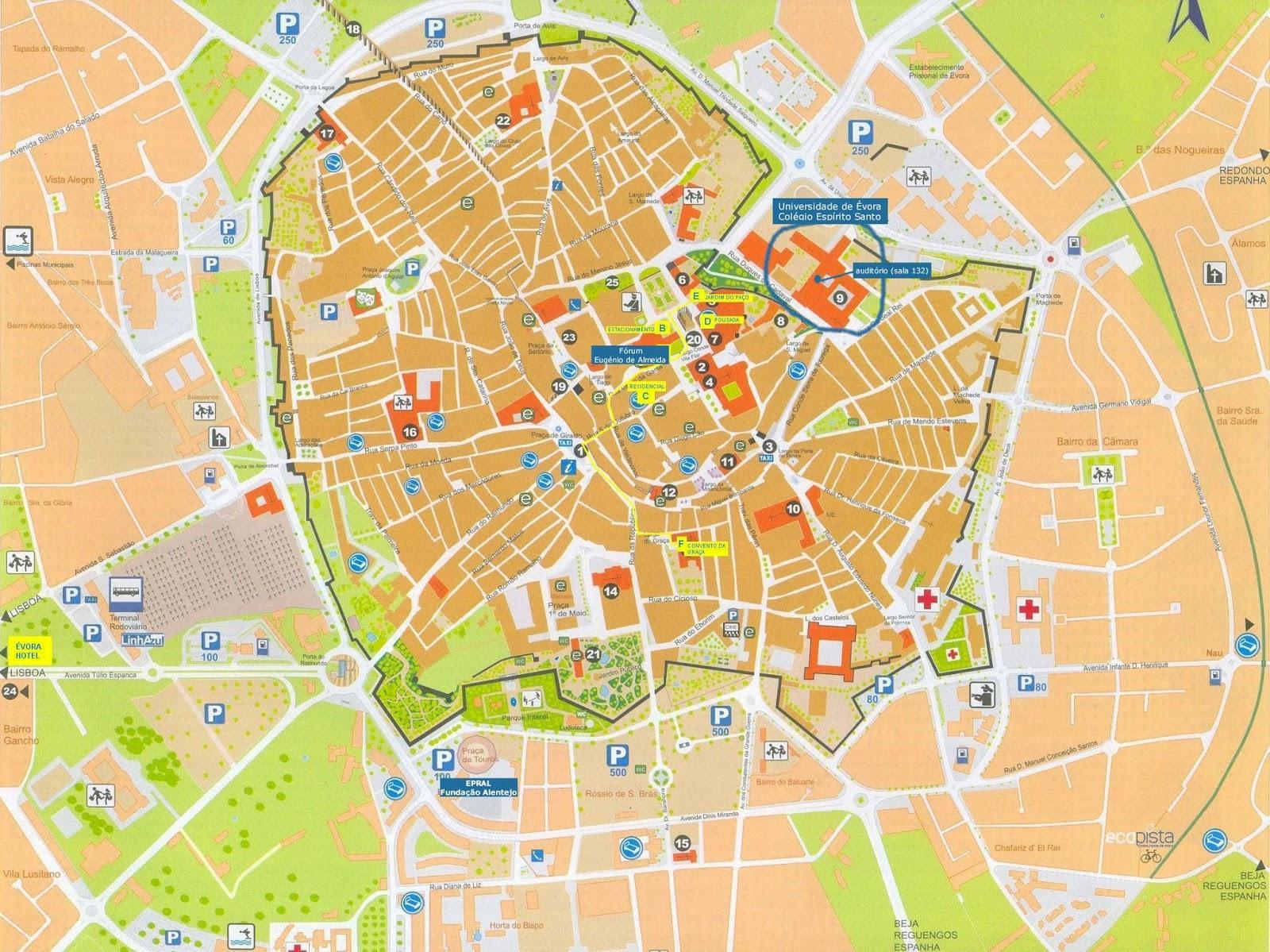 mapa evora Mapas de Évora   Portugal | MapasBlog mapa evora