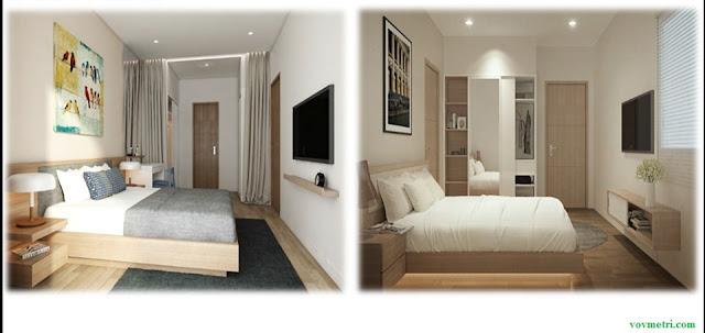 Phòng ngủ căn hộ mẫu dự án Vov Mễ Trì