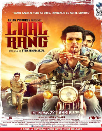 Poster Of Laal Rang 2016 Hindi 600MB DVDRip 720p ESubs HEVC Watch Online Free Download downloadhub.in