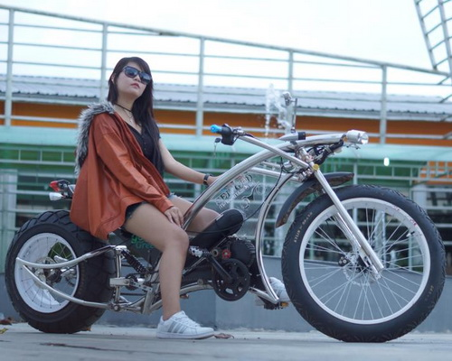 Tinuku.com Wiwin Vegas designed Seliged electric bike lowrider chopper stylish and luxurious aluminum frame