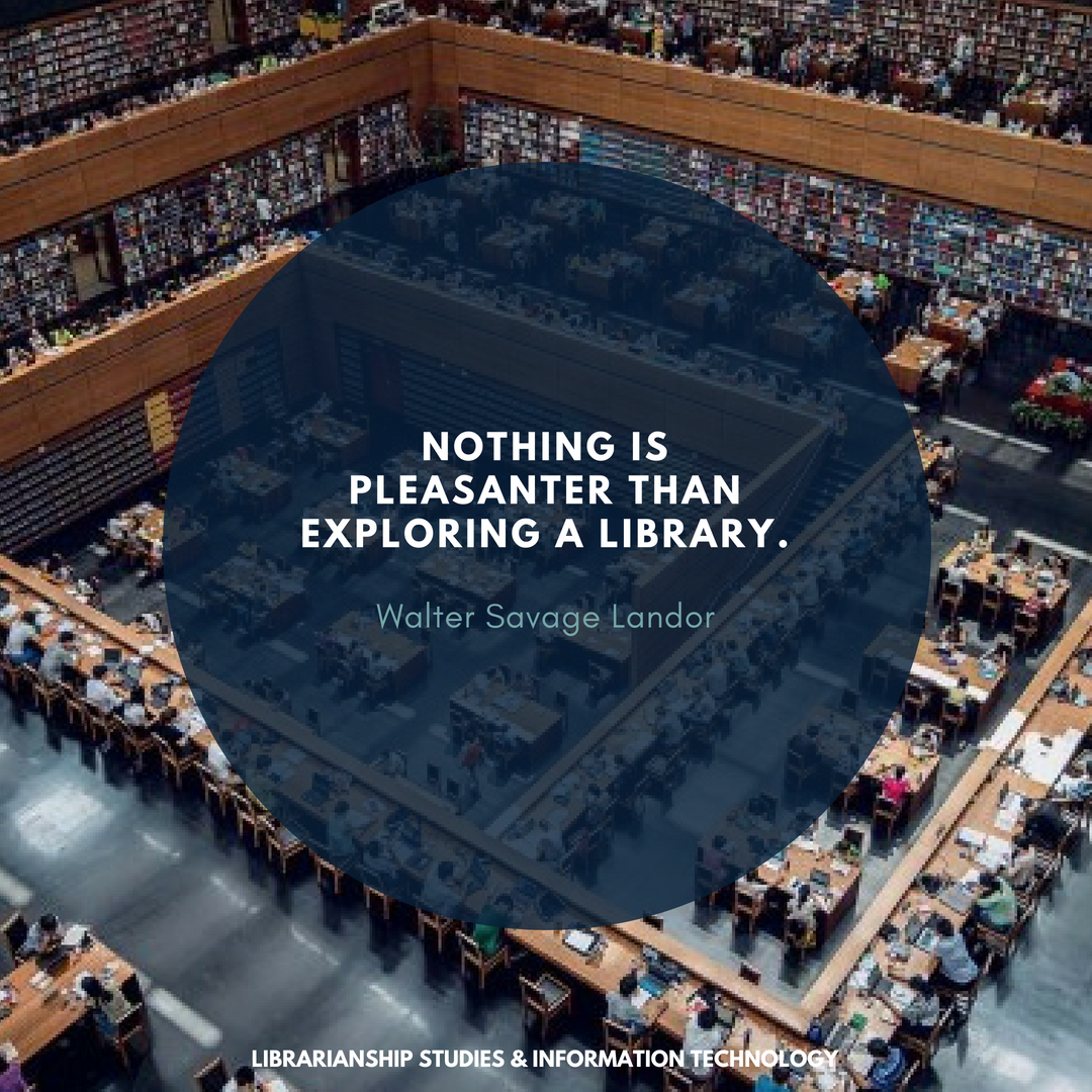 nothing is pleasanter than exploring a library