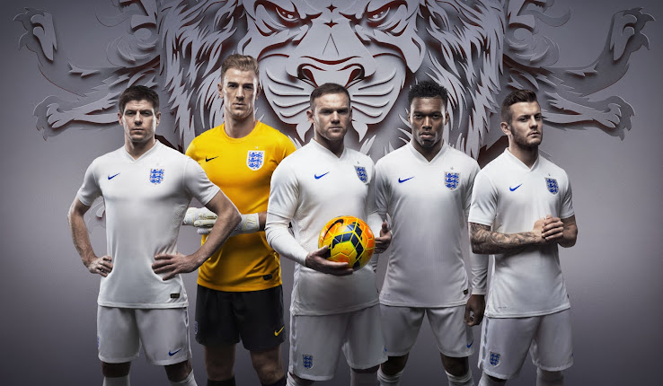 pretty nice c8fe5 1acd9 Nike England 2014 World Cup Home and Away Kits Released ...