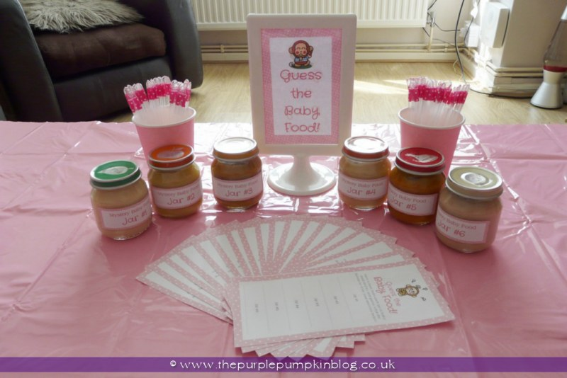 Baby Shower Food Games Guess