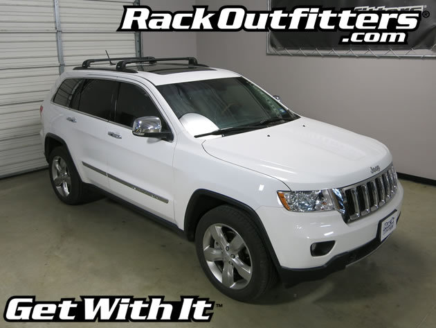 Jeep Grand Cherokee Thule BLACK AeroBlade EDGE Base Roof ...