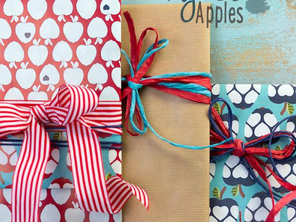 My Leni Apples Geschenkpapier und vitaminreiche Postkarten