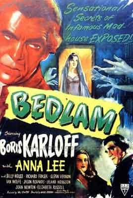 Bedlam, un gran Boris Karloff en una gran película de terror clásico