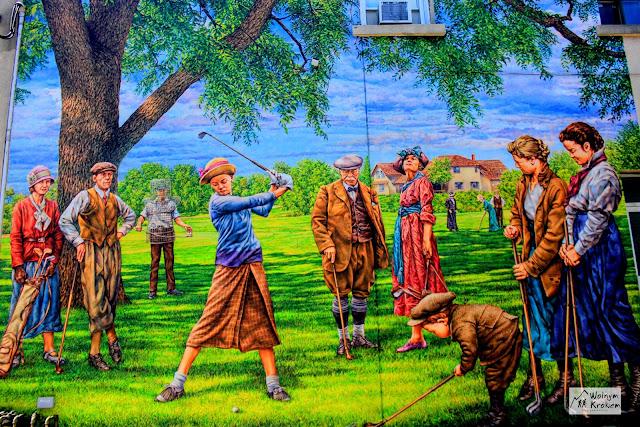 Murale - gra w golfa - street art Islington