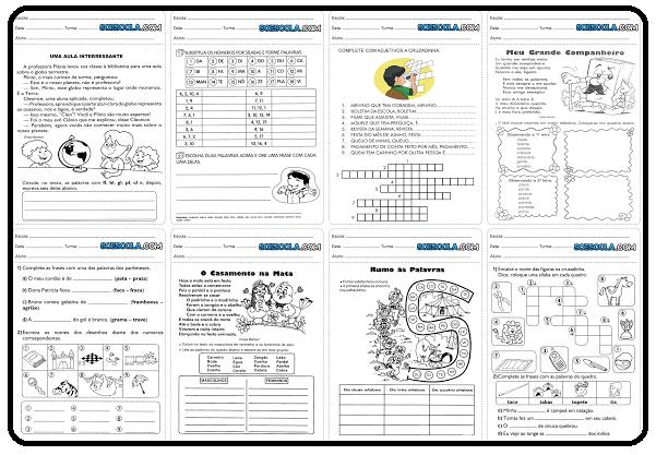BAIXE EM PDF - Atividades para o 3° ano de português para imprimir