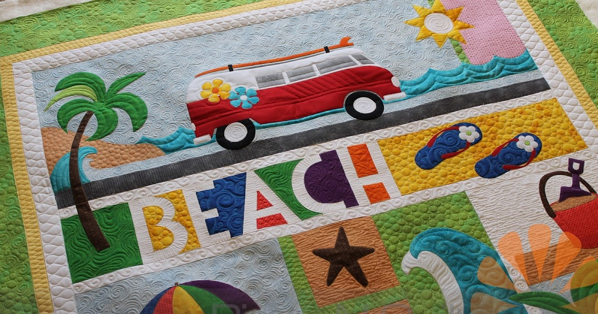 Piece N Quilt Beach Break Custom Machine Quilting By