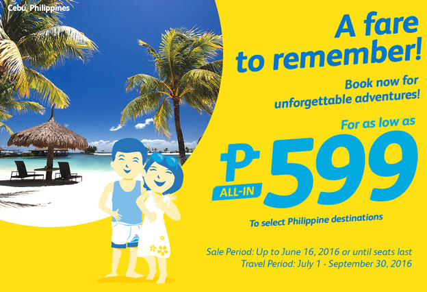 Cebu Pacific 599 Fare Promo Philippine Destinations