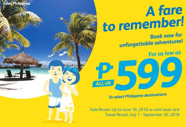 Cebu Pacific 599 Fare Promo Philippine Destinations
