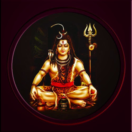 Circle shape shiva wallpaper