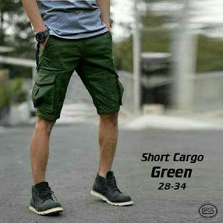 celana pendek pria, celana cargo pendek, celana cargo