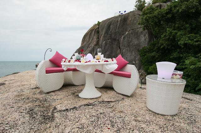 Cena romantica al Beluga boutique hotel-Koh Samui