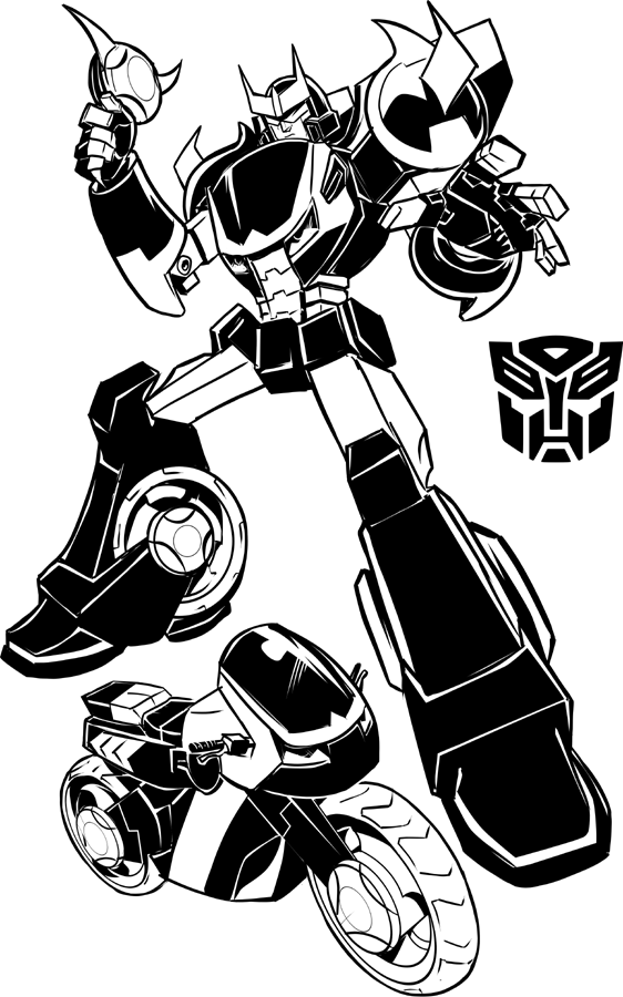 Prowl Transformer Coloring Pages | Transformers coloring pages ... | 900x562