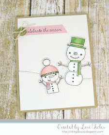 Celebrate the Season card-designed by Lori Tecler/Inking Aloud-stamps from Reverse Confetti