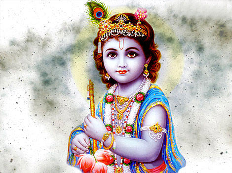 Happy Flower Wallpaper Quotes For Desktop Cute Child Lord Krishna Images Amp Wallpapers