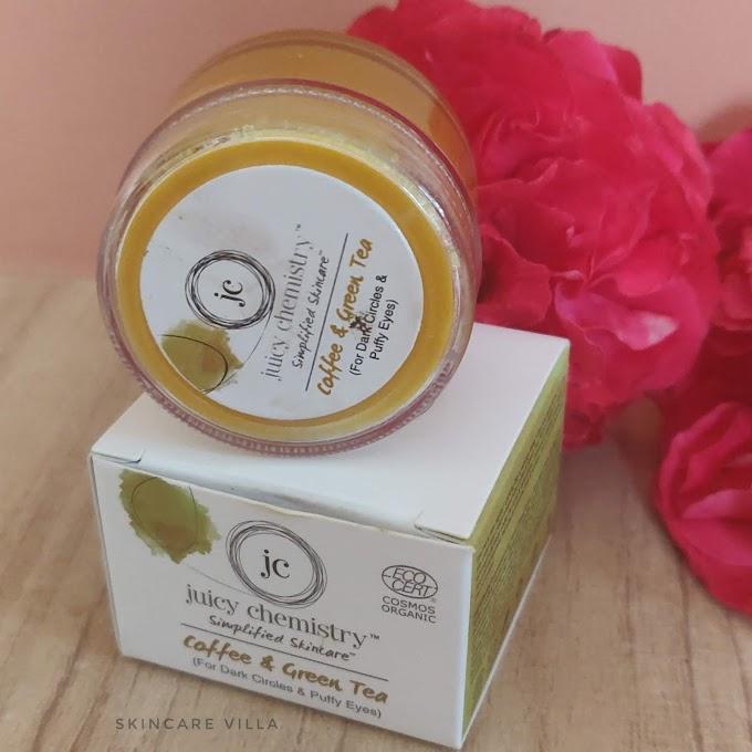 Juicy Chemistry Coffee and Green Tea Eye Cream Review